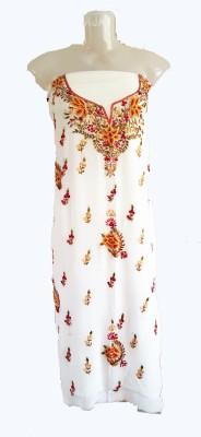 skhoza Georgette Embroidered Kurti Fabric
