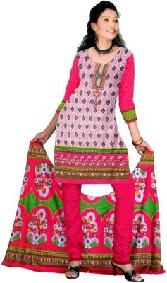 Grahcjows Creations Cotton Printed Salwar Suit Dupatta Material