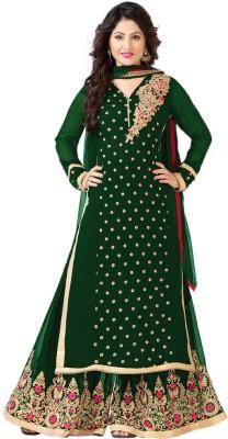 Inddus Georgette Embellished, Embroidered Salwar Suit Dupatta Material