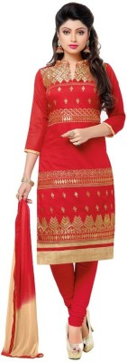 Reveka Fashion Cotton Embroidered Salwar Suit Dupatta Material
