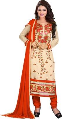 Fabgruh Chanderi Embroidered Salwar Suit Dupatta Material