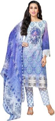 Amelliaz Pashmina, Cotton, Chiffon Geometric Print, Floral Print Salwar Suit Dupatta Material