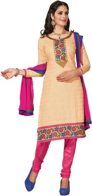 Reveka Fashion Chanderi Self Design Dress/Top Material