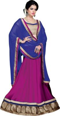 Vibes Georgette Embellished Lehenga Choli Material