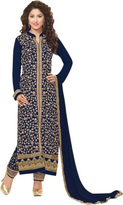 Styles Closet Georgette Embroidered Semi-stitched Salwar Suit Dupatta Material