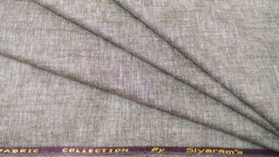 Siyarams Cotton Linen Blend Self Design Trouser Fabric