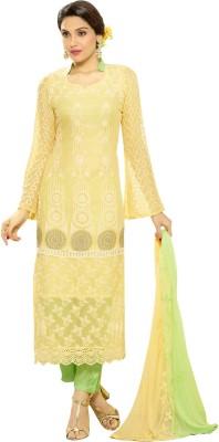 Hitansh Chiffon Embroidered Salwar Suit Dupatta Material