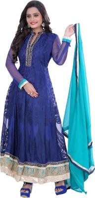 Vandv Shop Brasso Embroidered Semi-stitched Salwar Suit Dupatta Material