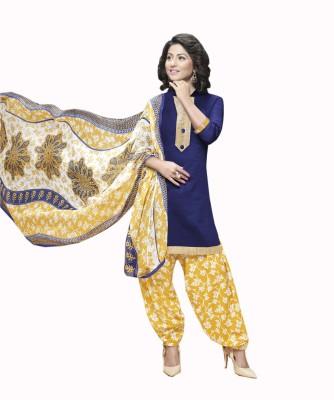 Lizafab Satin Printed Salwar Suit Dupatta Material