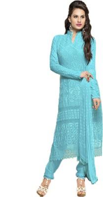 Varni Retail Georgette Self Design Salwar Suit Dupatta Material