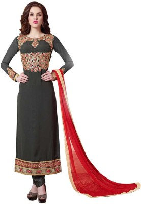 Saara Georgette Embroidered Salwar Suit Dupatta Material(Un-stitched) at flipkart