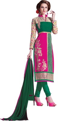 Parishi Fashion Cotton Embroidered Salwar Suit Dupatta Material(Un-stitched)