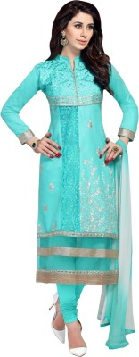 Aagamanfashion Cotton Linen Blend Embroidered Dress/Top Material