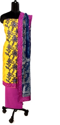 Unnati Clothings Cotton Embroidered Salwar Suit Dupatta Material