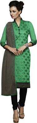 Manthan Chanderi Embroidered Kurti Fabric