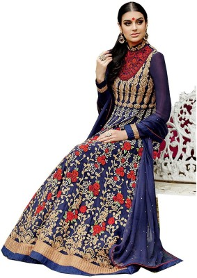 Lifestylemegamartindia Georgette Embroidered Salwar Suit Dupatta Material