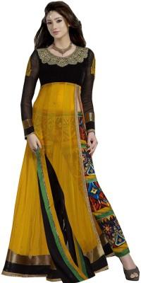 Jassu Fashion Hub Net Self Design Semi-stitched Salwar Suit Dupatta Material