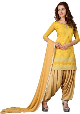 The Four Hundred Chanderi Embroidered Salwar Suit Dupatta Material