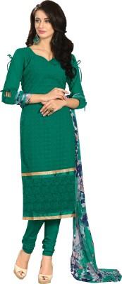 Fabgruh Georgette Embroidered Salwar Suit Dupatta Material