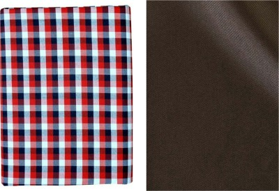 SAHYOG Cotton Polyester Blend Checkered, Solid Shirt & Trouser Fabric(Un-stitched)