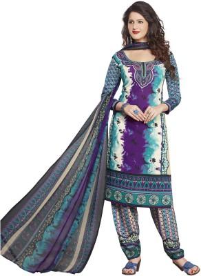Drapes Crepe Printed Salwar Suit Dupatta Material