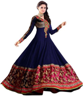 Shyam Creation9 Georgette Embroidered Semi-stitched Salwar Suit Dupatta Material