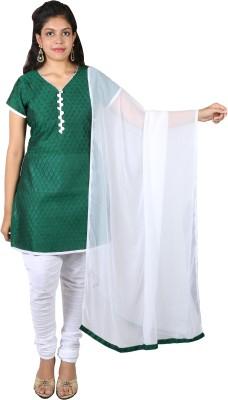 Ginni 6 Rayon Checkered Salwar Suit Dupatta Material