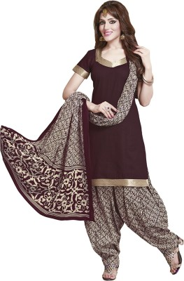 TG Shoppers Cotton Printed Salwar Suit Dupatta Material