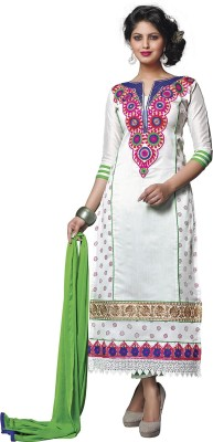 Lilots Cotton Embroidered Salwar Suit Dupatta Material