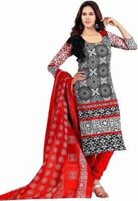 Jay Ganapati Cotton Geometric Print Salwar Suit Dupatta Material