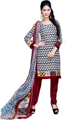 Stella Creation Georgette Embroidered Semi-stitched Salwar Suit Dupatta Material