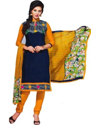 SGC Chanderi Embroidered Salwar Suit Dupatta Material(Un-stitched)