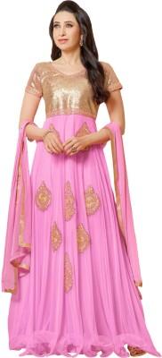 Whatshop Georgette Embroidered Salwar Suit Dupatta Material