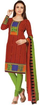 Embryo Cotton Geometric Print Salwar Suit Dupatta Material