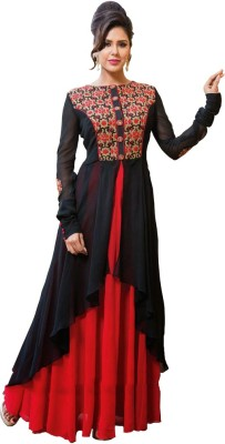 HSFS Georgette Embroidered Dress/Top Material