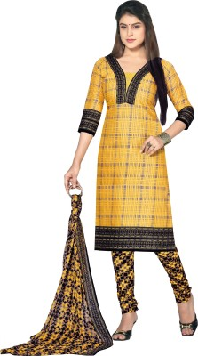 Jiya Cotton Self Design, Printed Salwar Suit Dupatta Material