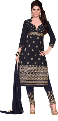 Beautara Cotton Embroidered, Solid Semi-stitched Salwar Suit Dupatta Material