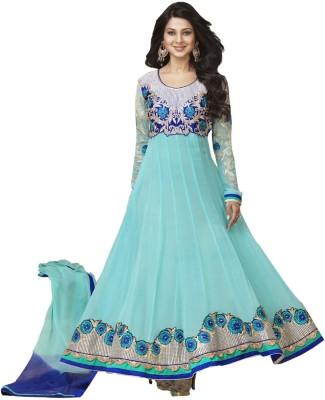 Wonder Trendz Georgette Embroidered Semi-stitched Salwar Suit Dupatta Material
