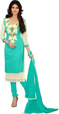 Shree Vardhman Cotton Silk Blend Embroidered Salwar Suit Dupatta Material