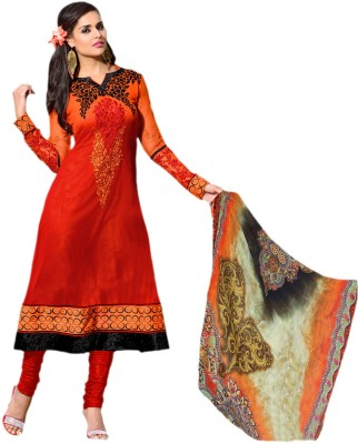 Hypnotex Georgette Solid Salwar Suit Dupatta Material(Un-stitched) at flipkart