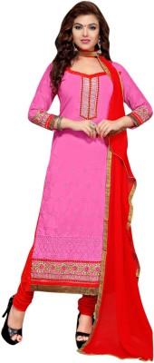 De Marca Cotton Embroidered Semi-stitched Salwar Suit Dupatta Material