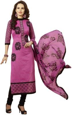 Sanchey Chanderi Printed Salwar Suit Dupatta Material