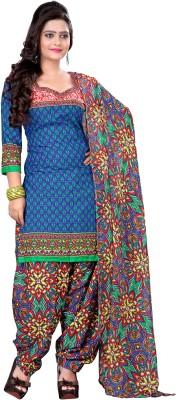 Fabgruh Crepe Printed Salwar Suit Dupatta Material