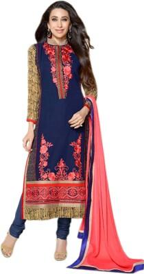 Glitzy Georgette Self Design Semi-stitched Salwar Suit Dupatta Material