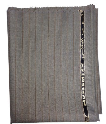 Ramkumar Textile Polyester Striped Trouser Fabric(Un-stitched)