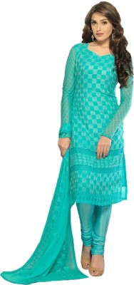 Wedding Villa Georgette Embroidered Salwar Suit Dupatta Material