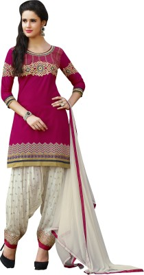 Rjshop Cotton Embroidered Salwar Suit Dupatta Material