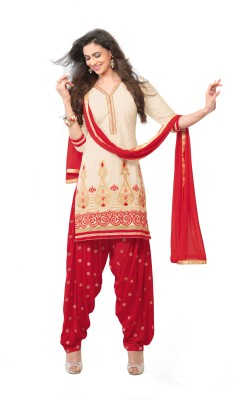 Kvsfab Chanderi Self Design, Solid Salwar Suit Dupatta Material(Un-stitched) at flipkart