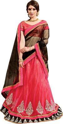 Inddus Satin, Net Embellished, Embroidered Lehenga Choli Material