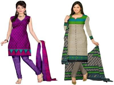 Araham Synthetic Printed Salwar Suit Dupatta Material